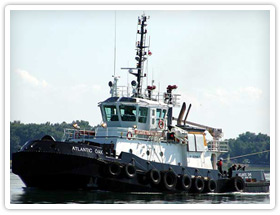Atlantic Tug Boat on route to assist another ship